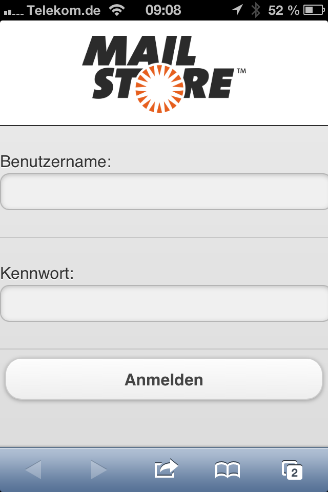 MailStore Server Iphone