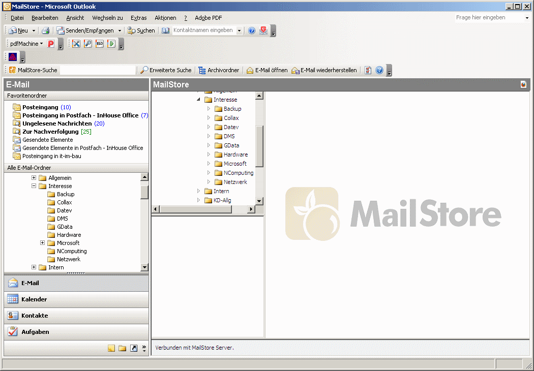 MailStore Server Outlook