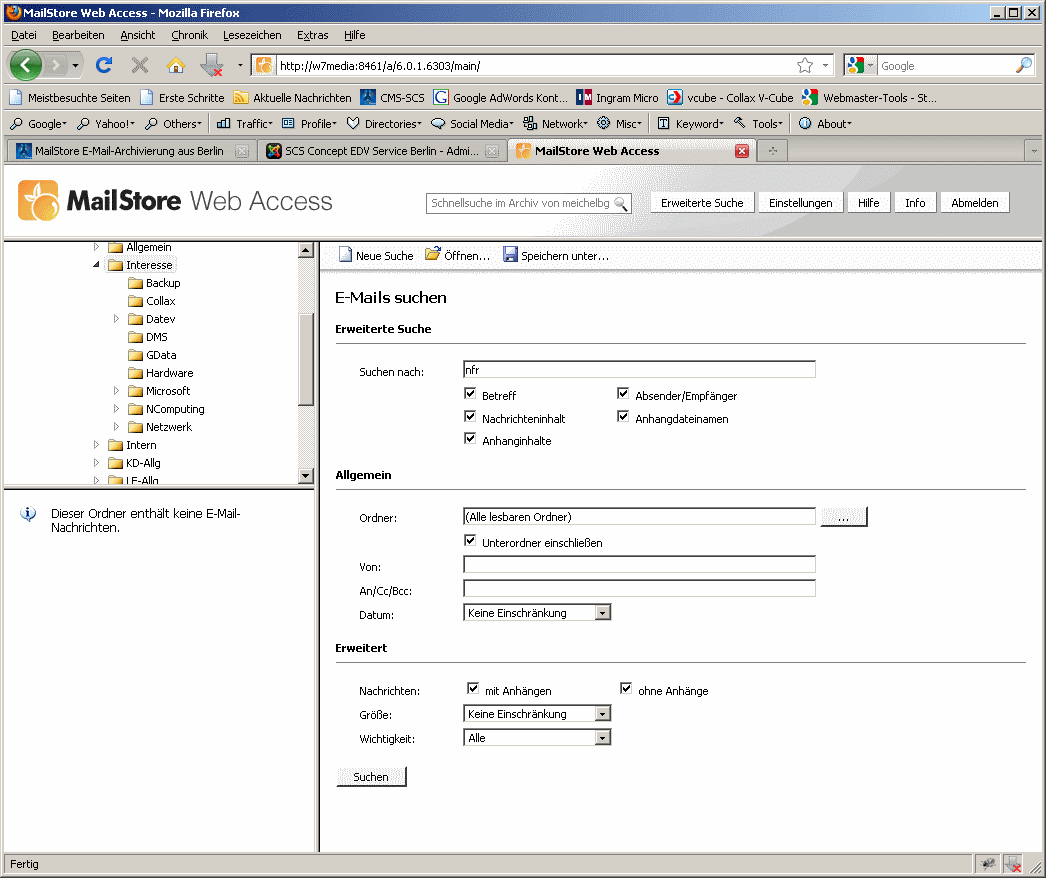 MailStore Server Webaccess