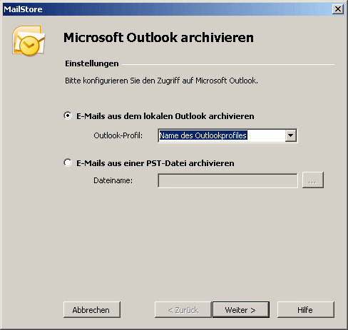Mailstore Outlook Archivierung