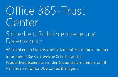 Office365 Trustcenter
